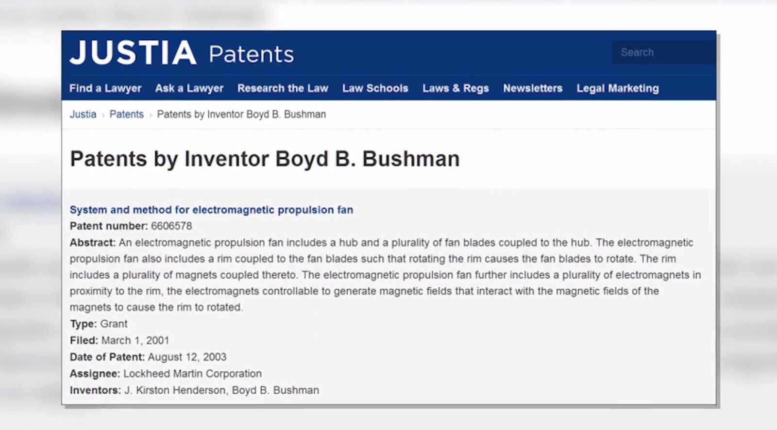 9 Bushman Patent 2
