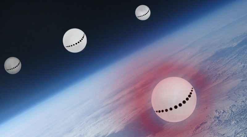 4 Cosmonaut Type Spheres