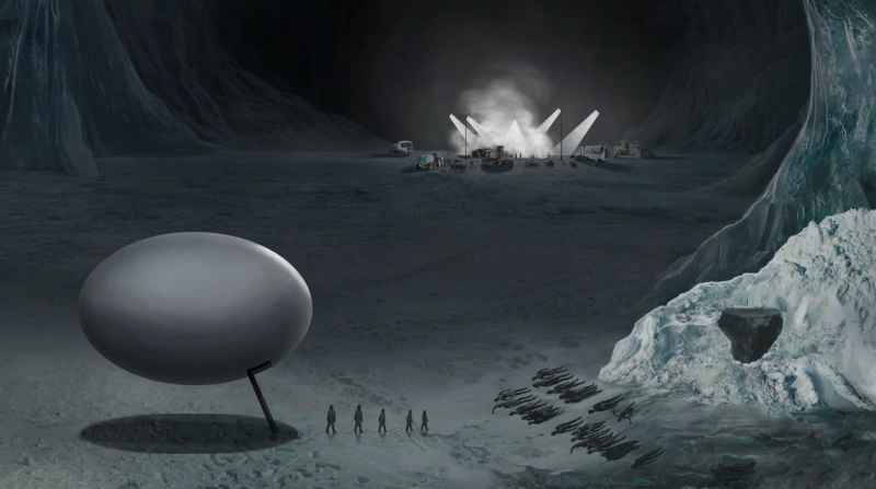 40 Egg Shaped Craft In Ice Cavern In Antarctica