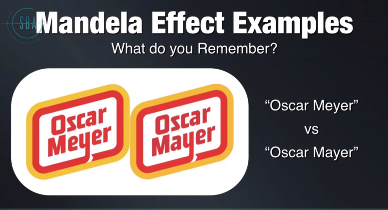 mandela effect oscar mayer