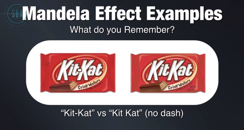 The mandela effect proof and evidence examples