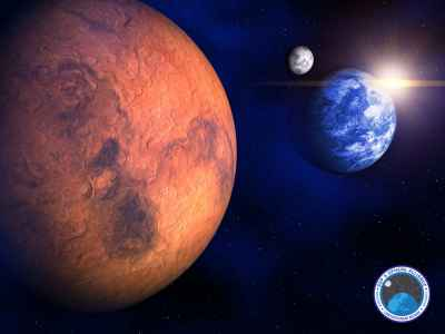 Earth, Mars and Moon bases
