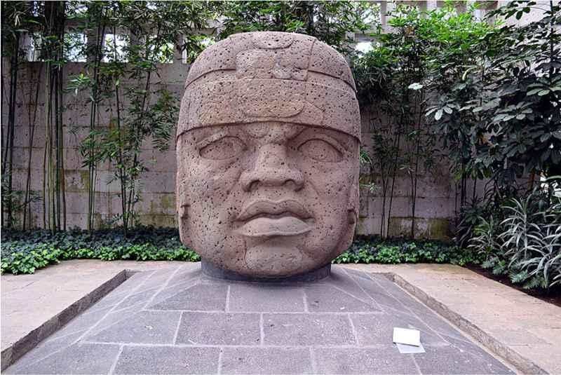 13 Olmec Stone Head