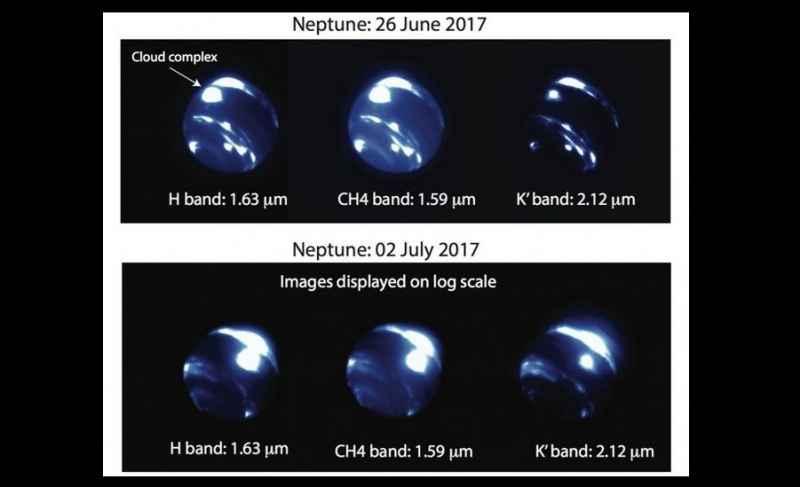 Cambio de tormenta de Neptuno modelo 3D 2017